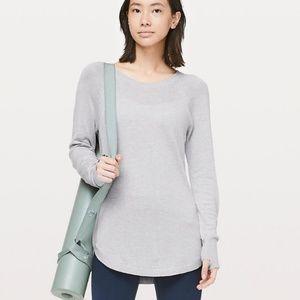 Lululemon Hello Aloe Heather Grey Pullover Sweater